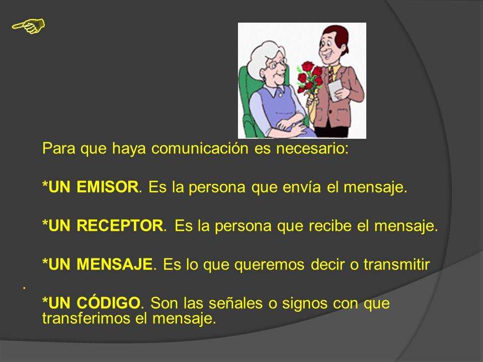 La comunicación puede ser: *VERBAL:VERBAL: -Oral -Escrita *NO VERBAL:NO VERBAL: -Gestual -Señales: Visuales, auditivas…