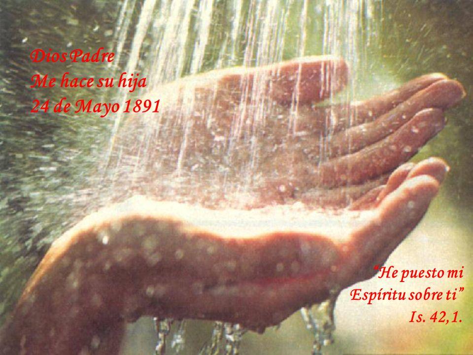 UNIFICADA INTERIORMENTE SOBERANÍA DE DIOS NUEVA EN EL AGUA Y EN EL ESPIRITU UNGIDA EN EL ESPIRITU COMO SIGNO DE PERTENENCIA UNA VIDA DISPONIBLE A LAS INVITACIONES DE VIVIR PLENAMENTE EL DON DE SER HIJA DE DIOS