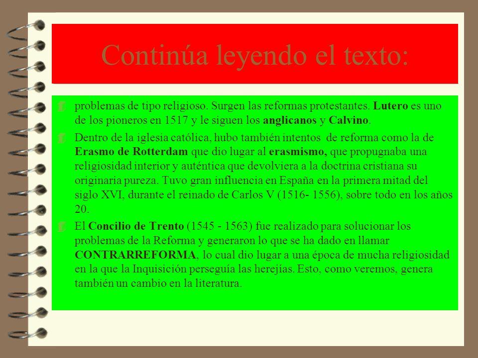 Concepto y cronología del Renacimiento 4 SOLUCIÓN: El Renacimiento es un movimiento surgido en ___ITALIA_______ en el siglo XV que se expande por toda Europa durante los siglos___XV y XVI___.