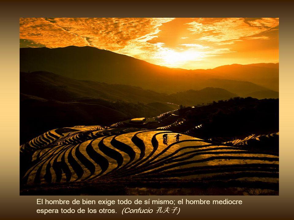El sabio teme al cielo sereno; porque, cuando viene la tempestad, el camina sobre las olas y desafía el viento. (Confucio )