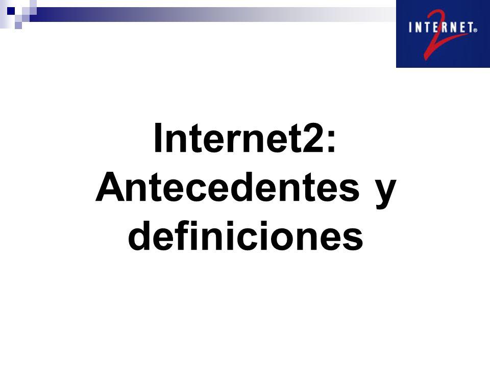 Tecnología de Internet2 Internet2 opera en parte gracias a la tecnología HOPI (Hybrid Optical and Packet Infrastructure Project).