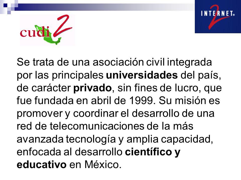 Se trata de una asociación civil integrada por las principales universidades del país, de carácter privado, sin fines de lucro, que fue fundada en abril de 1999.