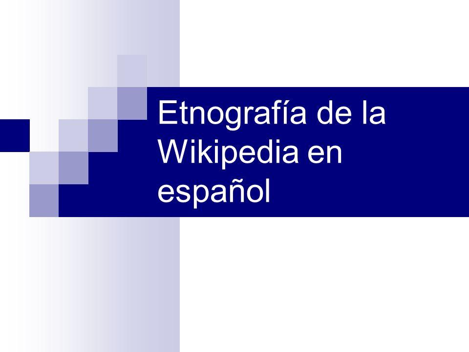 Etnografía de la Wikipedia en español