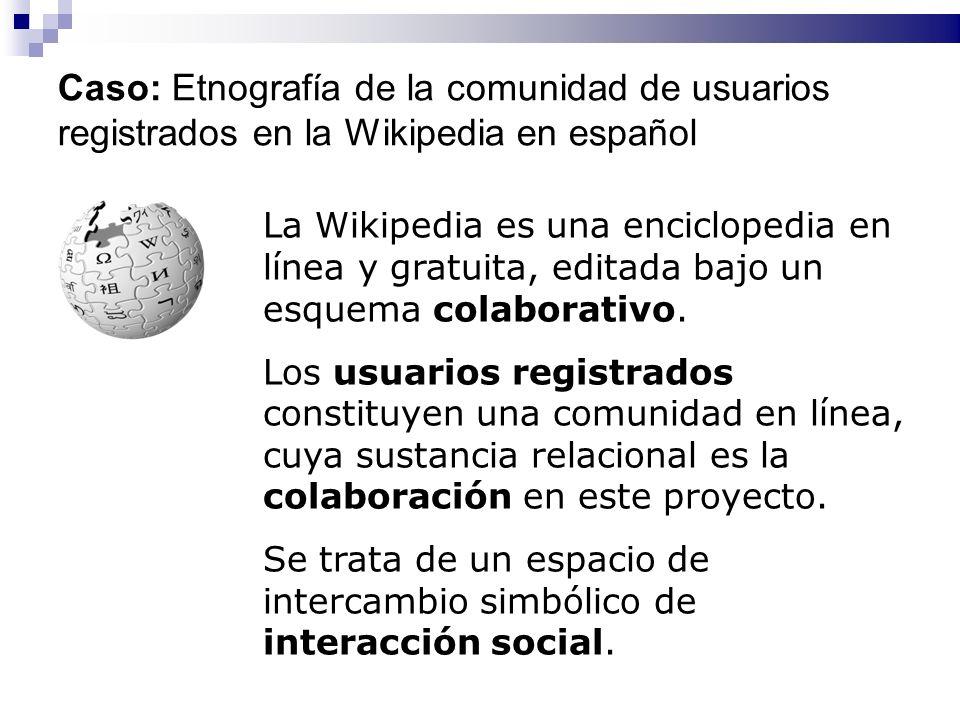 La Wikipedia es una enciclopedia en línea y gratuita, editada bajo un esquema colaborativo. Los usuarios registrados constituyen una comunidad en líne