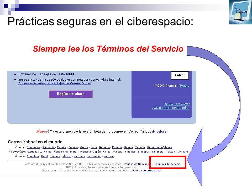 Prácticas seguras en el ciberespacio: Siempre lee los Términos del Servicio