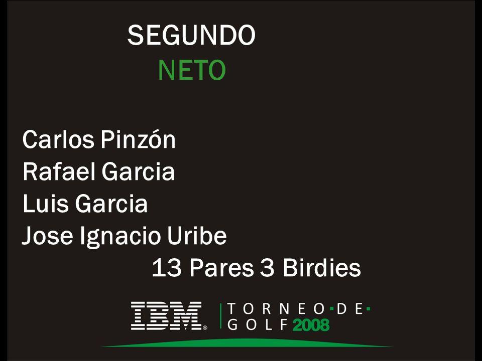 SEGUNDO NETO Carlos Pinzón Rafael Garcia Luis Garcia Jose Ignacio Uribe 13 Pares 3 Birdies