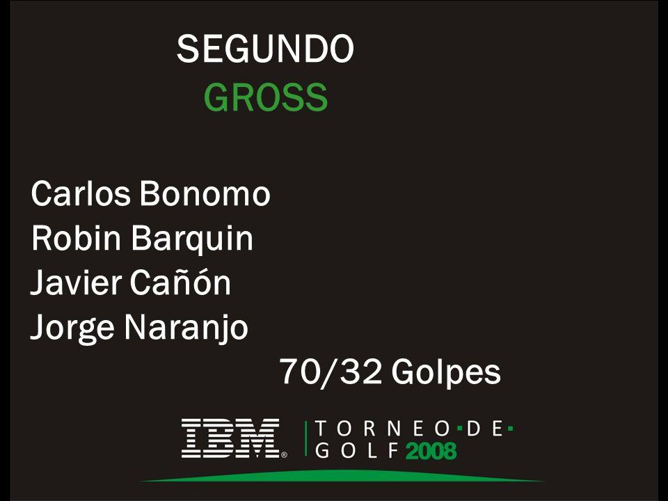 SEGUNDO GROSS Carlos Bonomo Robin Barquin Javier Cañón Jorge Naranjo 70/32 Golpes