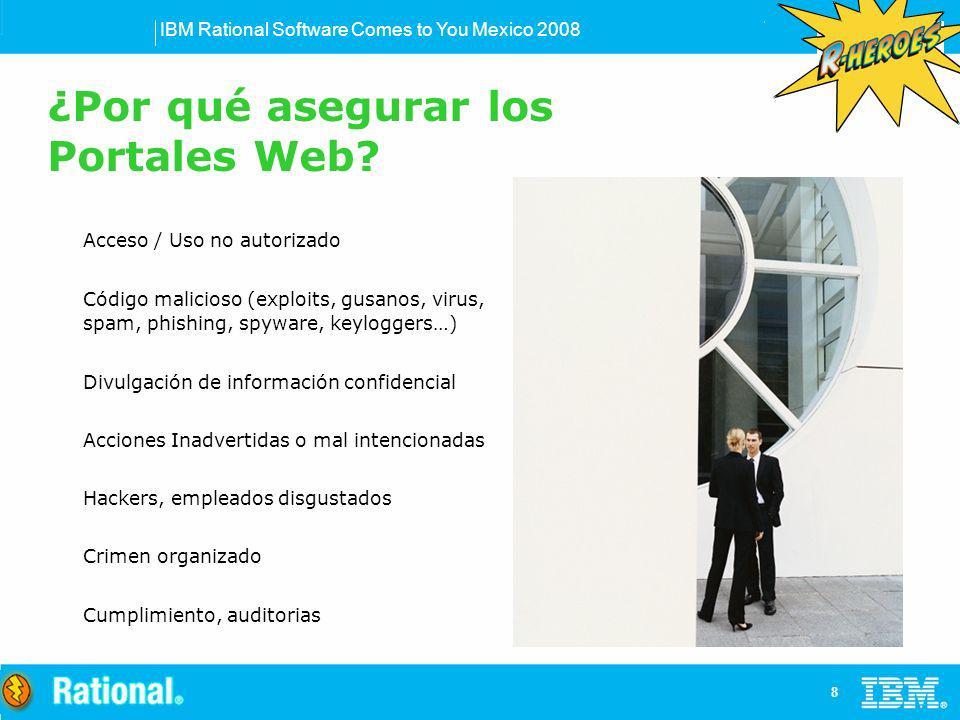 IBM Rational Software Comes to You Mexico 2008 9 Empleados Clientes Becarios Servicio social Consultores Socios Familiares Prestadores de servicio ¿Hackers?