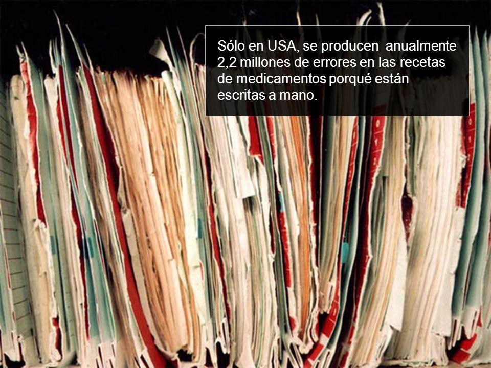 Sólo en USA, se producen anualmente 2,2 millones de errores en las recetas de medicamentos porqué están escritas a mano.