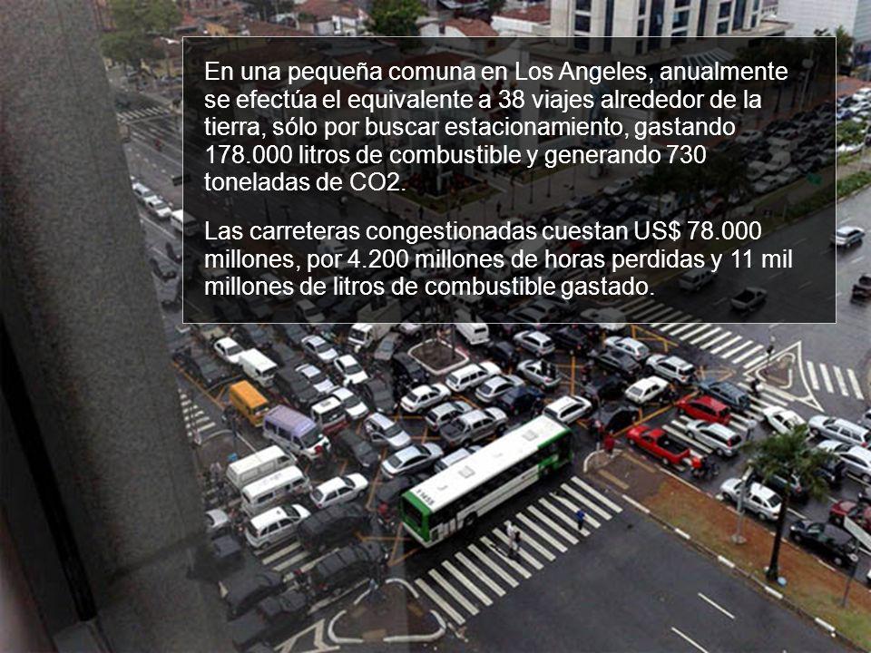 En una pequeña comuna en Los Angeles, anualmente se efectúa el equivalente a 38 viajes alrededor de la tierra, sólo por buscar estacionamiento, gastan