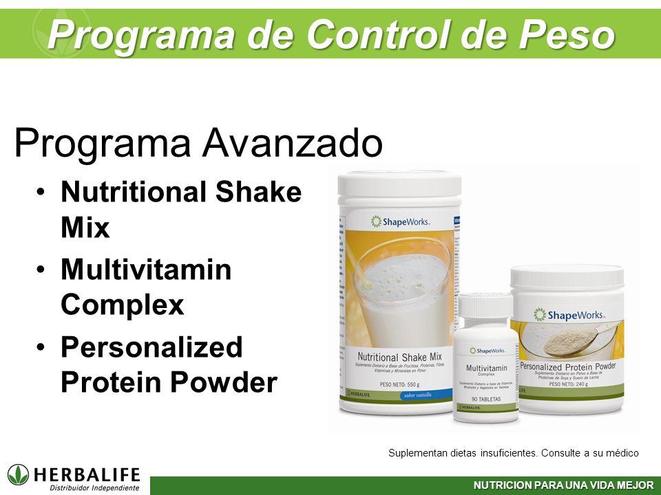 NUTRICION PARA UNA VIDA MEJOR Programa de Control de Peso Nutritional Shake Mix Multivitamin Complex Personalized Protein Powder Suplementan dietas in