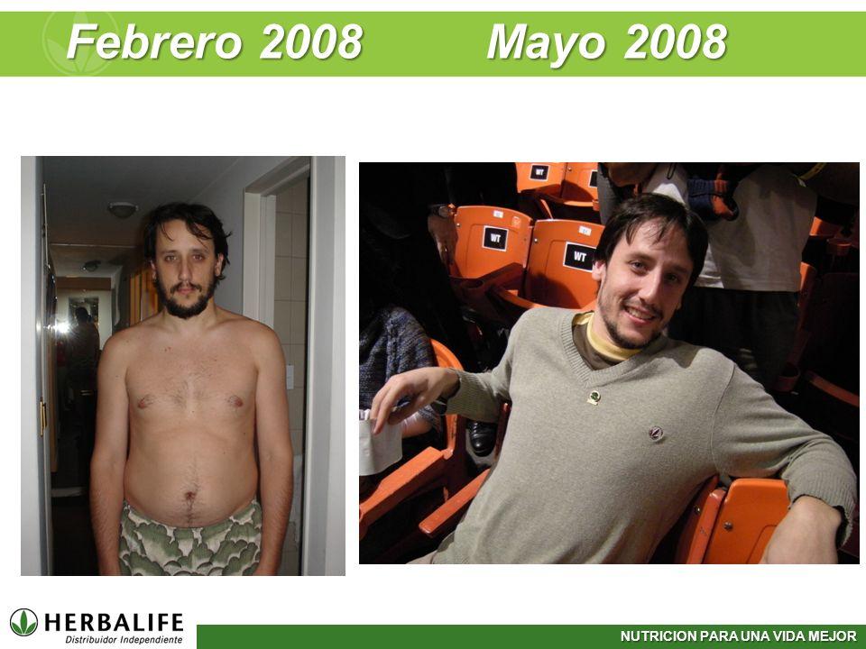NUTRICION PARA UNA VIDA MEJOR Febrero 2008 Mayo 2008