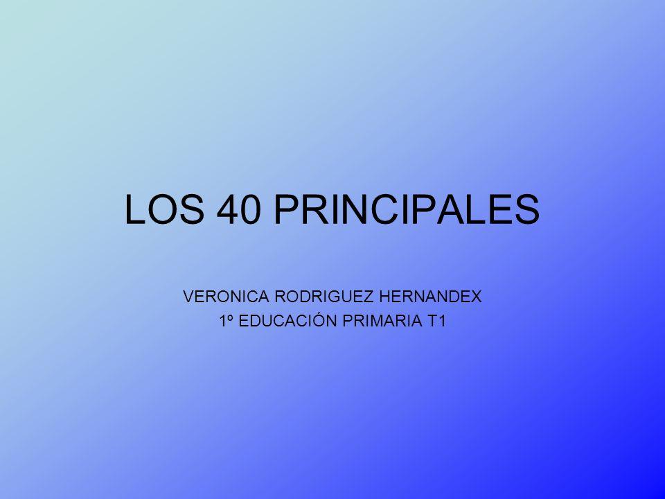 LOS 40 PRINCIPALES VERONICA RODRIGUEZ HERNANDEX 1º EDUCACIÓN PRIMARIA T1