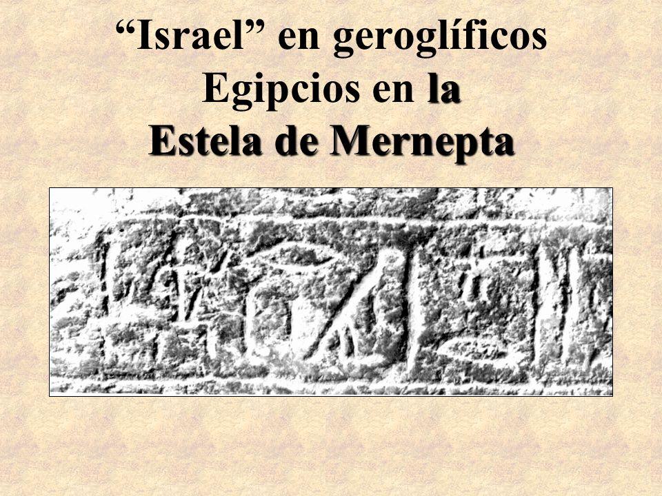 la Estela de Mernepta Israel en geroglíficos Egipcios en la Estela de Mernepta