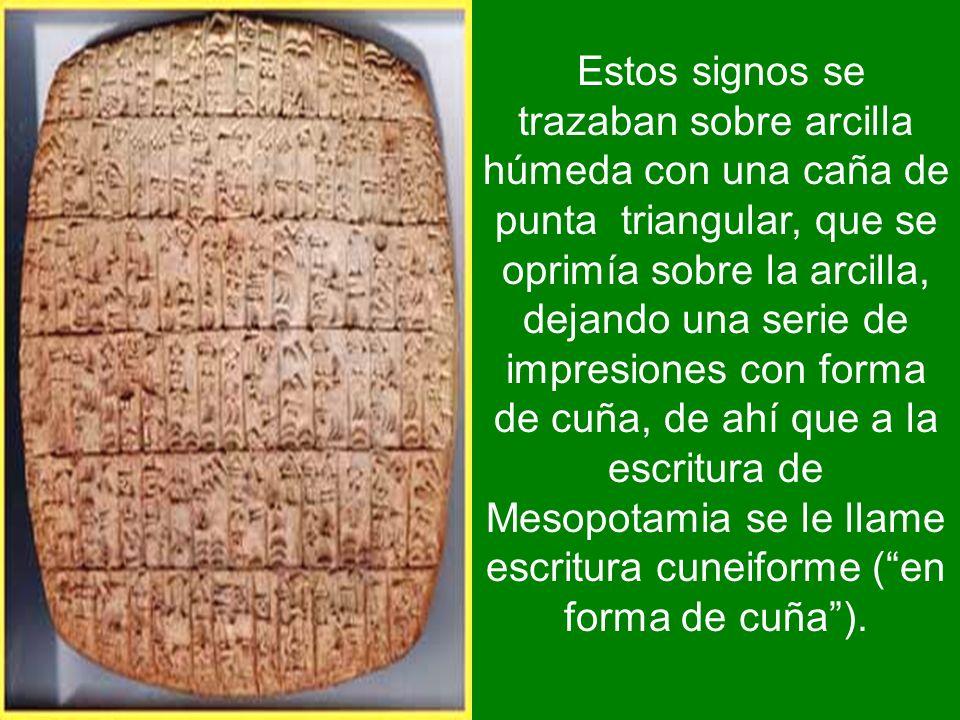 La invención de la escritura nació de la necesidad práctica de registrar inventarios. Los primeros rastros de sumerio escrito datan del año 3100 a.C.