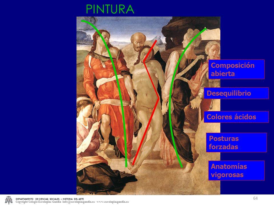 DEPARTAMENTO DE CIENCIAS SOCIALES – HISTORIA DEL ARTE Copyright Colegio Escolapias Gandia info@escolapiasgandia.es www.escolapiasgandia.es 64 Composic