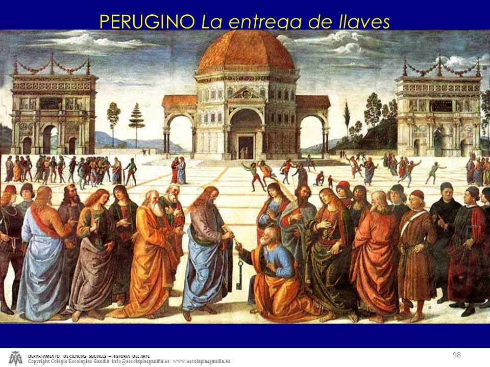 DEPARTAMENTO DE CIENCIAS SOCIALES – HISTORIA DEL ARTE Copyright Colegio Escolapias Gandia info@escolapiasgandia.es www.escolapiasgandia.es 98 PERUGINO