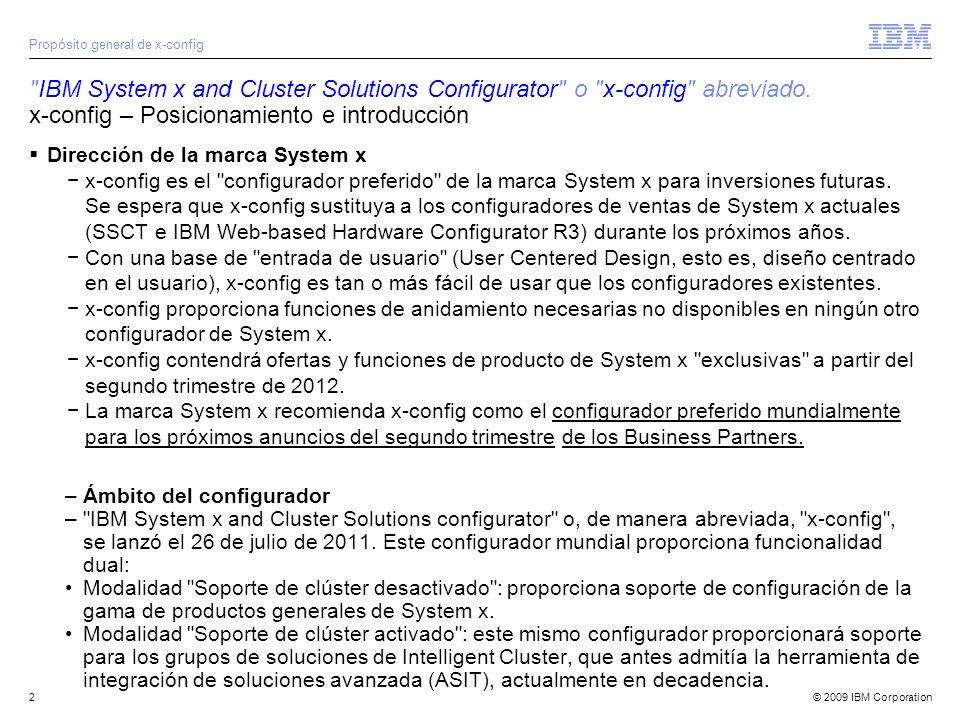 © 2009 IBM Corporation3 IBM System x and Cluster Solutions Configurator o x-config abreviado.