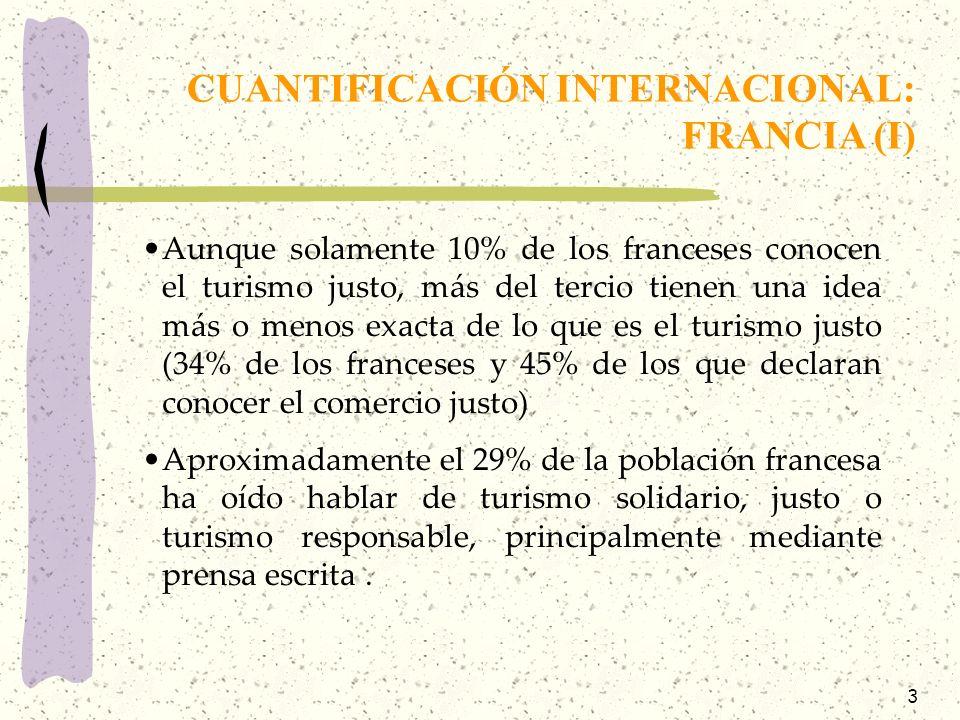 3 Aunque solamente 10% de los franceses conocen el turismo justo, más del tercio tienen una idea más o menos exacta de lo que es el turismo justo (34%