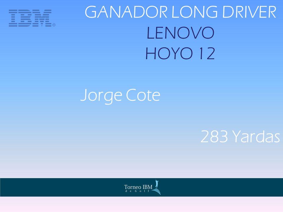 GANADOR LONG DRIVER LENOVO HOYO 12 Jorge Cote 283 Yardas