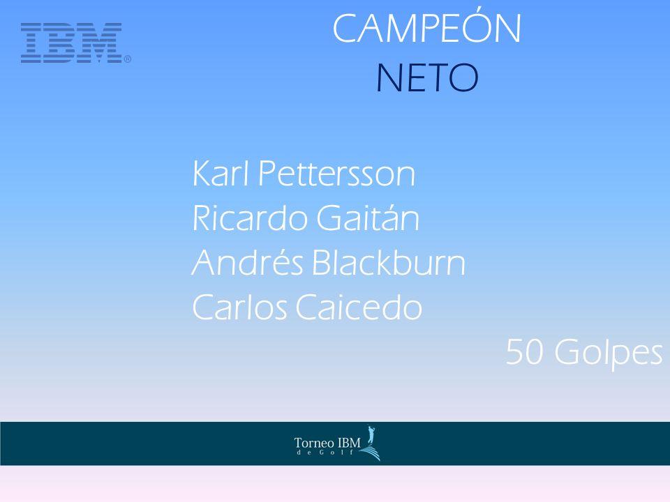 CAMPEÓN NETO Karl Pettersson Ricardo Gaitán Andrés Blackburn Carlos Caicedo 50 Golpes