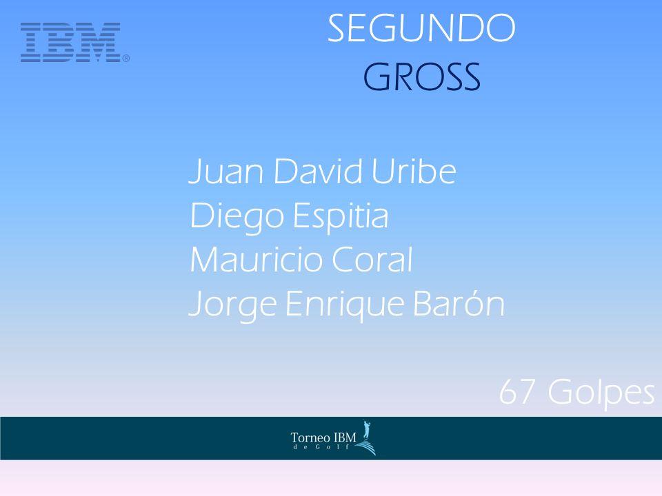 SEGUNDO GROSS Juan David Uribe Diego Espitia Mauricio Coral Jorge Enrique Barón 67 Golpes