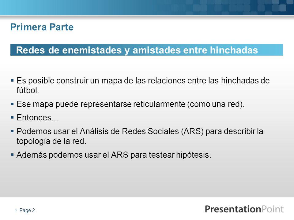 Page 3 Redes de enemistades y amistades entre hinchadas Los datos fueron relevadados de la web Barras-Bravas.com.