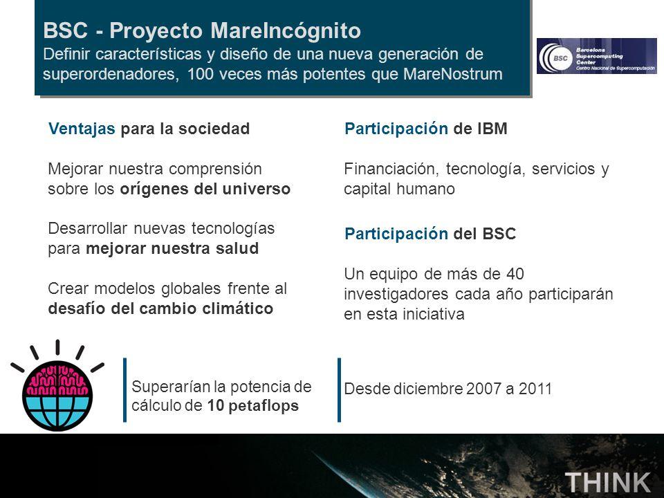 BSC - Proyecto MareIncógnito Definir características y diseño de una nueva generación de superordenadores, 100 veces más potentes que MareNostrum Part