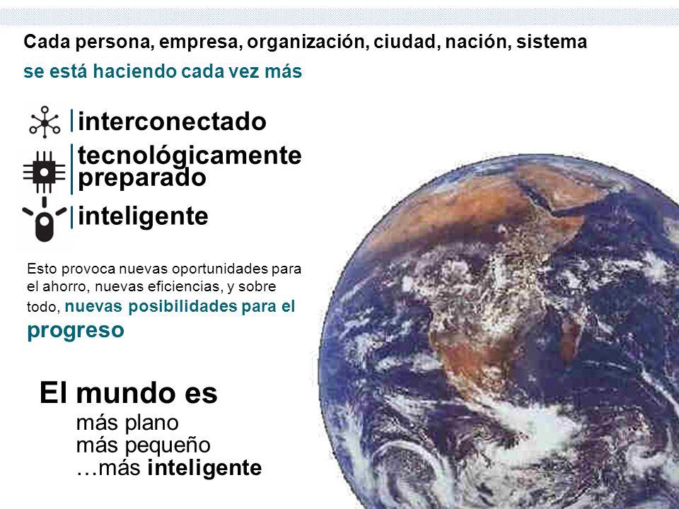 se está haciendo cada vez más Cada persona, empresa, organización, ciudad, nación, sistema interconectado tecnológicamente preparado inteligente Esto