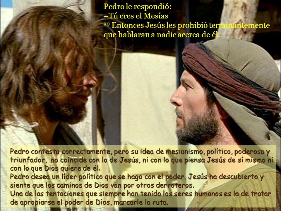 29 El siguió preguntándoles: –Y vosotros, ¿quién decís que soy yo? Esta segunda pregunta es la verdaderamente importante, la que ahora nos dirige Jesú