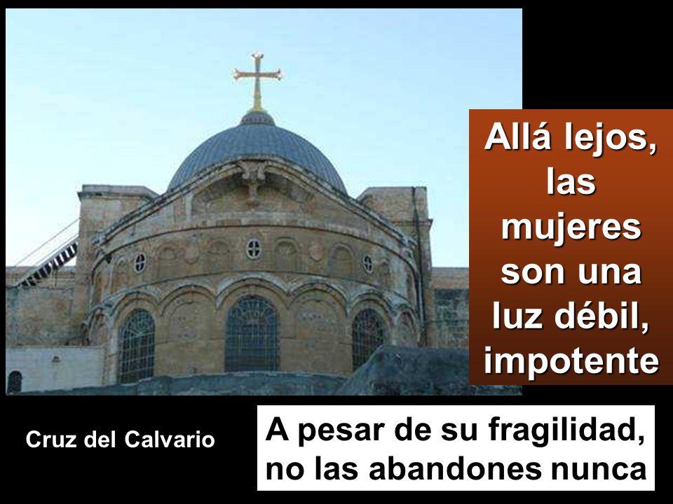 Había también unas mujeres que miraban desde lejos; entre ellas, María Magdalena, María, la madre de Santiago el Menor y de José, y Salomé, que, cuand