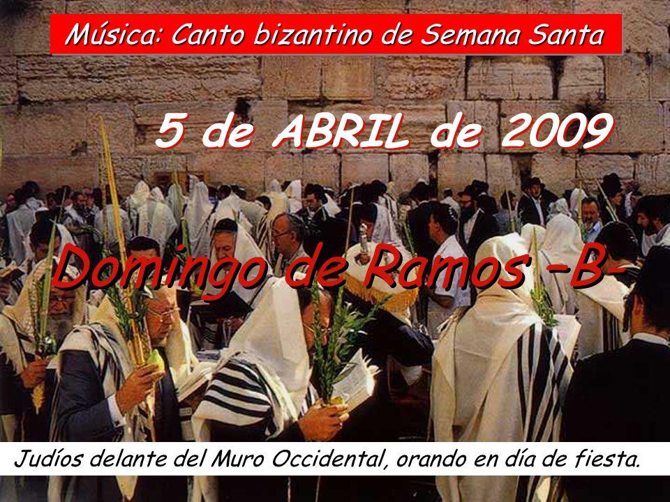 5 de ABRIL de 2009 Domingo de Ramos –B- Judíos delante del Muro Occidental, orando en día de fiesta.