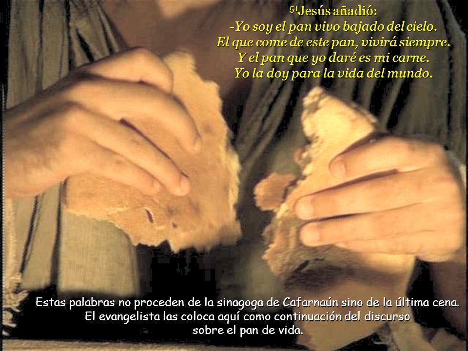 Juan 6, 51-58 20 domingo –B- 16 agosto 2009 La Eucaristía es la identificación de vida con Jesús: hacer lo que él hizo y vivir como él vivió.