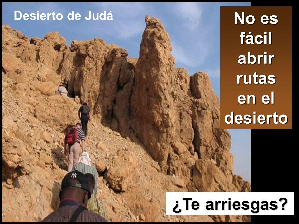 No es fácil abrir rutas en el desierto ¿Te arriesgas? Desierto de Judá