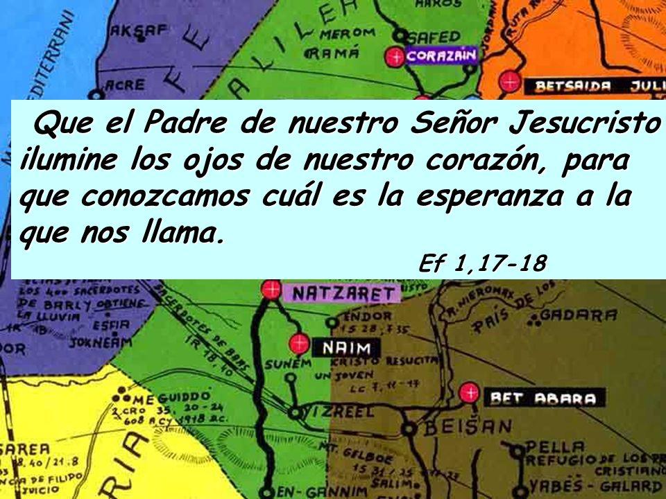 Bendito sea Dios, Padre de nuestro Señor Jesucristo, que desde lo alto del cielo nos ha bendecido por medio de Cristo con toda clase de bienes espirit