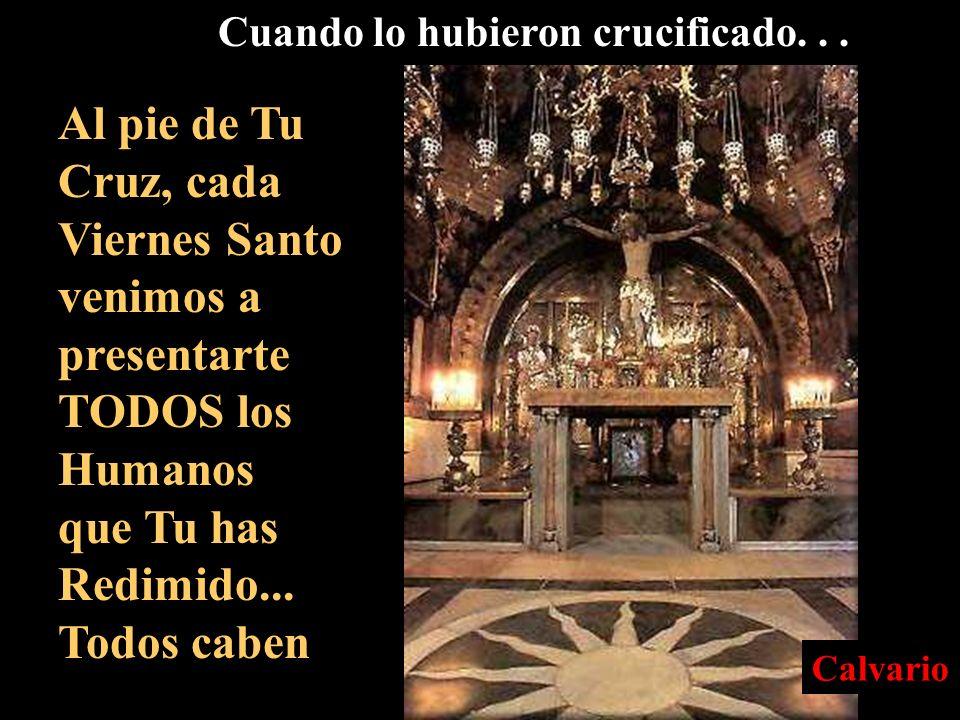 1 2 3 Getsemaní Casa de Anàs Casa de Caifàs 4 Pretorio de Pilat 5 Via Dolorosa 6 Calvario
