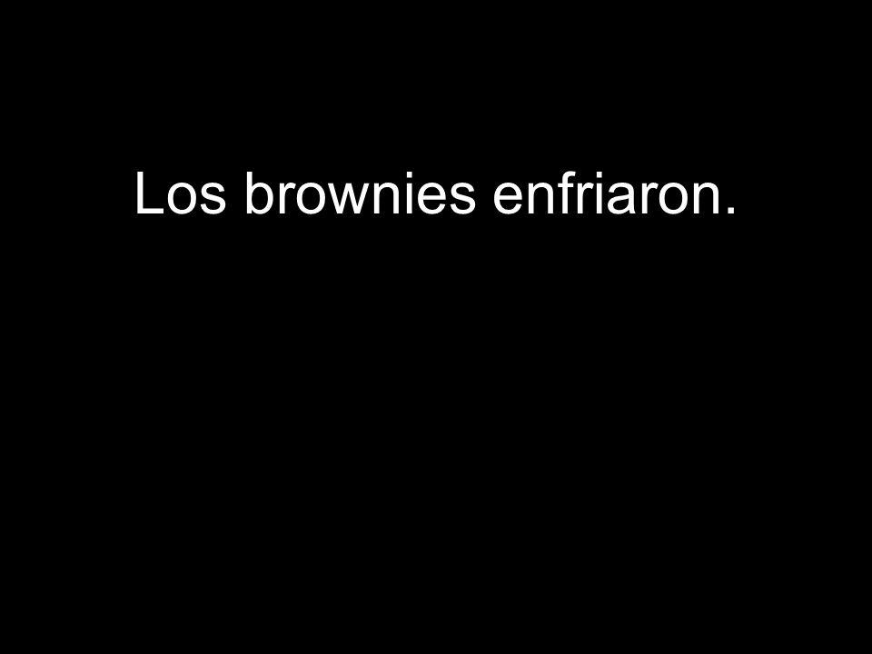 Los brownies enfriaron.