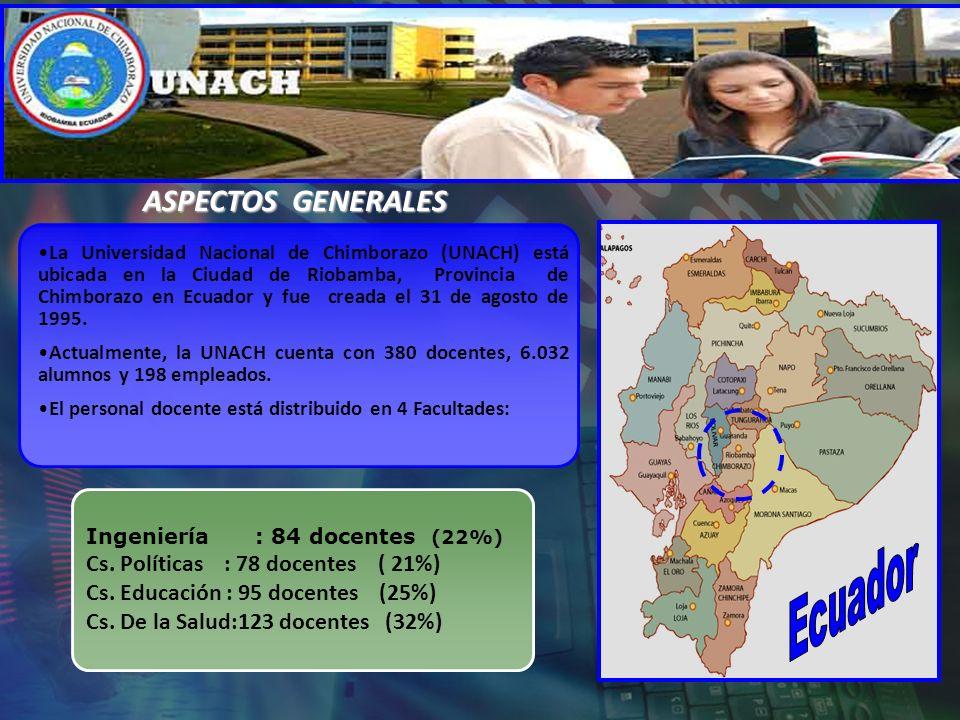 La Universidad Nacional de Chimborazo (UNACH) está ubicada en la Ciudad de Riobamba, Provincia de Chimborazo en Ecuador y fue creada el 31 de agosto d