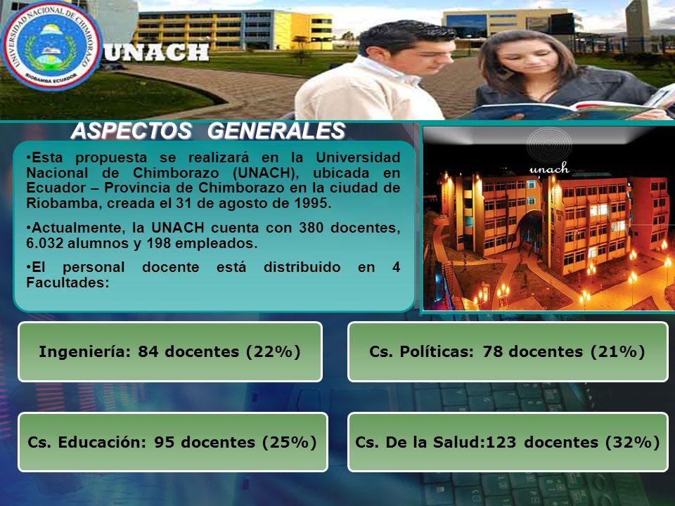 Esta propuesta se realizará en la Universidad Nacional de Chimborazo (UNACH), ubicada en Ecuador – Provincia de Chimborazo en la ciudad de Riobamba, creada el 31 de agosto de 1995.
