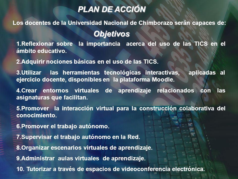 Objetivos 1.Reflexionar sobre la importancia acerca del uso de las TICS en el ámbito educativo.