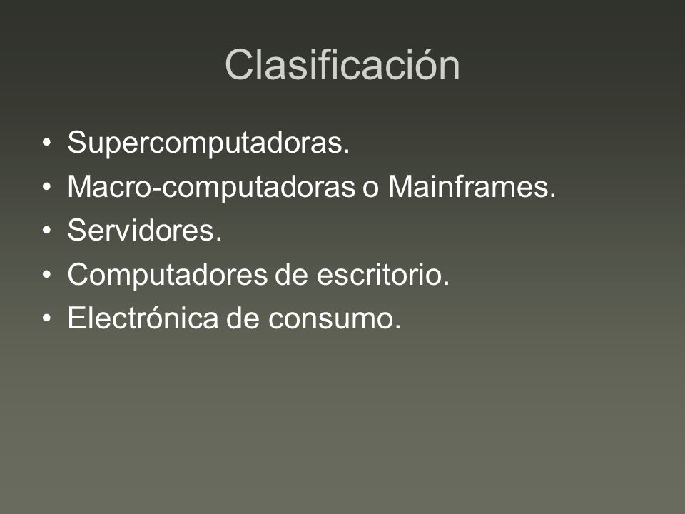 Supercomputadores Equipos de enorme poder de calculo, diseñados para realizar tareas tales como: –Estudio de energía nuclear.