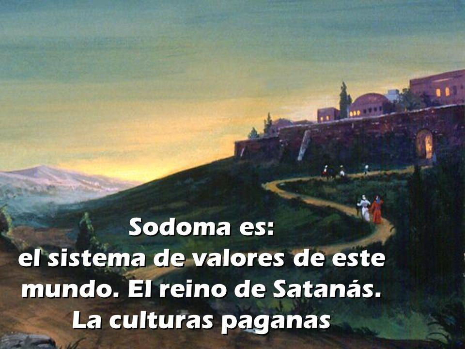 Sodoma es: el sistema de valores de este mundo. El reino de Satanás. La culturas paganas