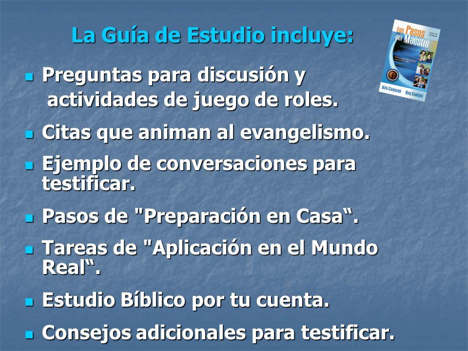 Preguntas para discusión y Preguntas para discusión y actividades de juego de roles. actividades de juego de roles. Citas que animan al evangelismo. C