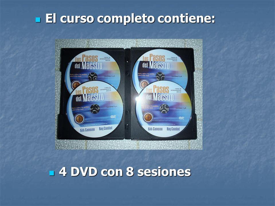 4 DVD con 8 sesiones 4 DVD con 8 sesiones El curso completo contiene: El curso completo contiene: