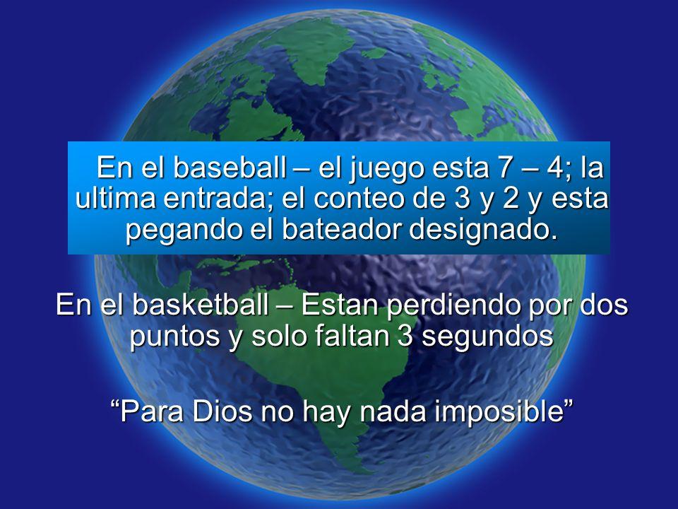 Slide 9 En el baseball – el juego esta 7 – 4; la ultima entrada; el conteo de 3 y 2 y esta pegando el bateador designado. En el baseball – el juego es