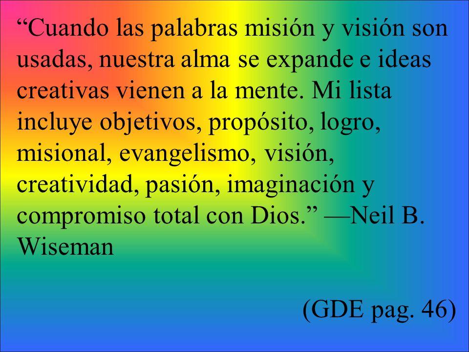 2.Sueña los sueños de Dios para tu pastorado.