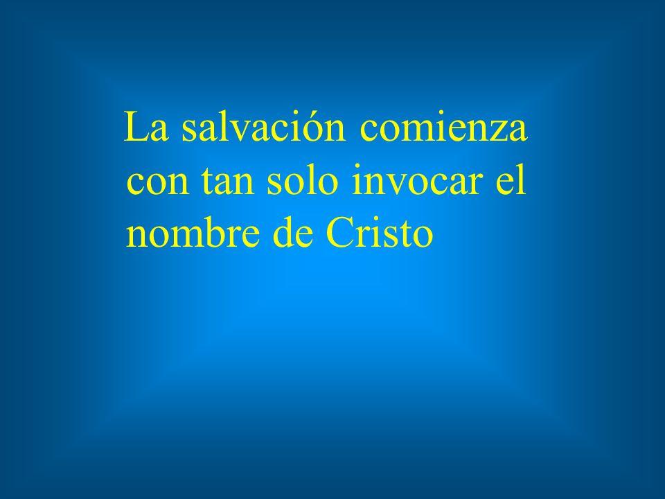 Y todo aquel que invocare el nombre del Señor, será salvo. Hechos 2:21