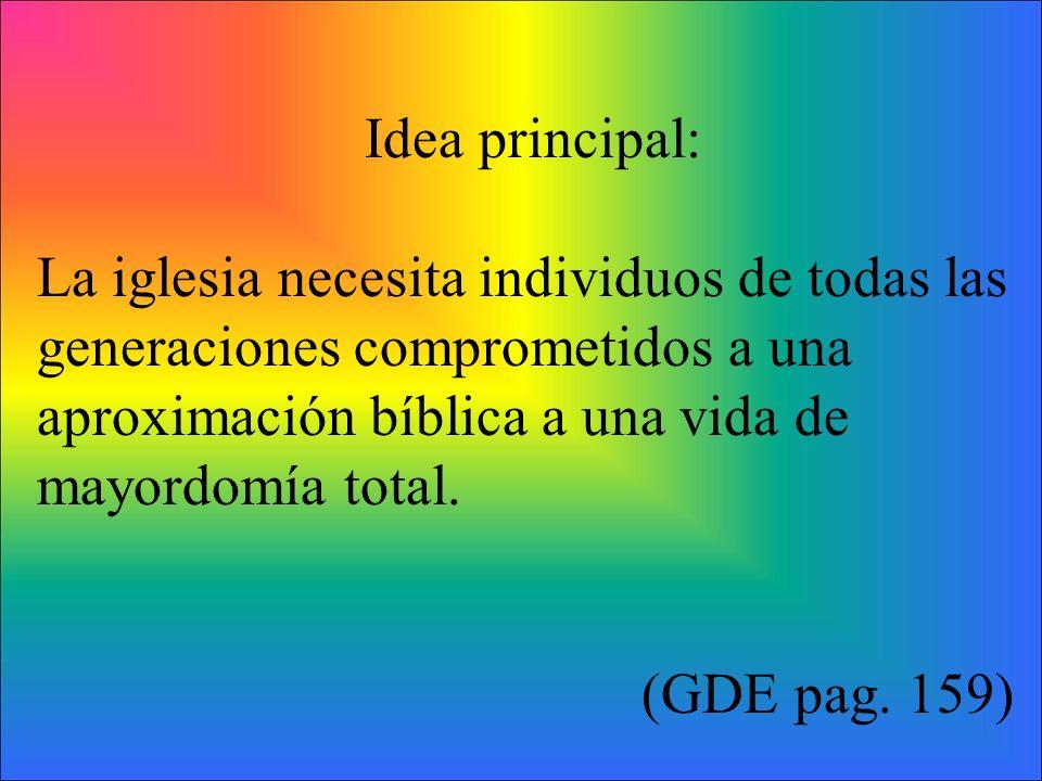 Ver la tabla de las cuatro aproximaciones (GDE- pag. 160)