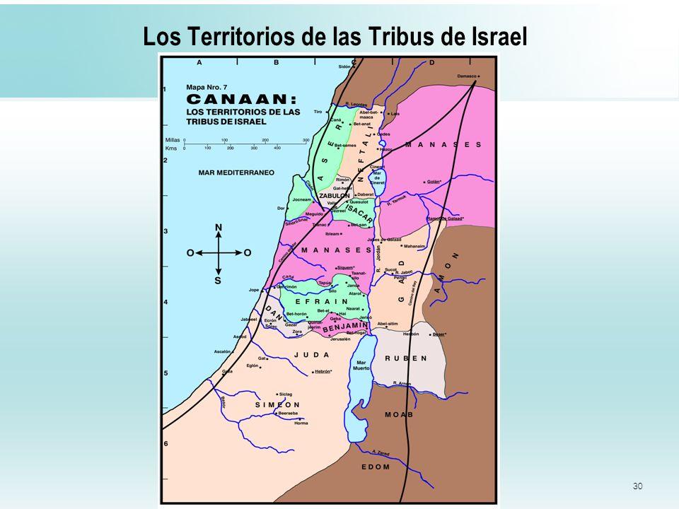 30 Los Territorios de las Tribus de Israel