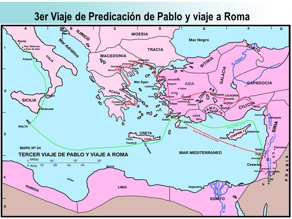 58 3er Viaje de Predicación de Pablo y viaje a Roma